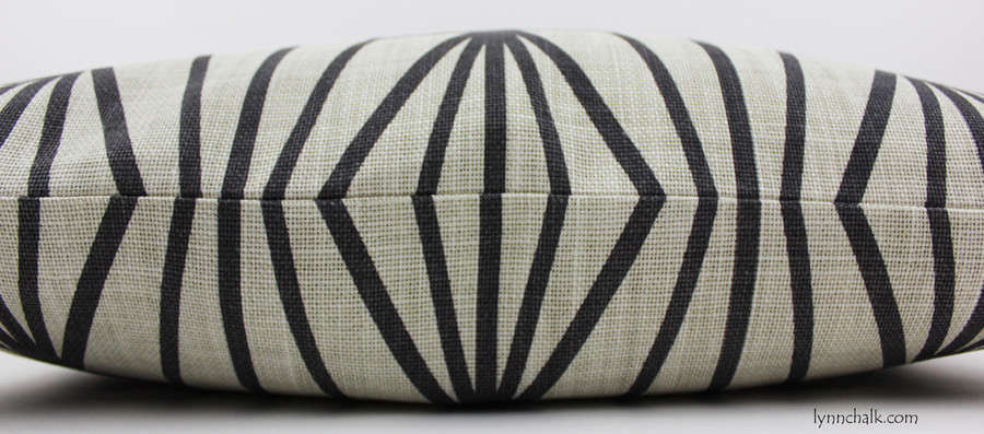 Kelly Wearstler Katana Custom Pillows in Ivory Ebony (also comes in Jade/Teal)