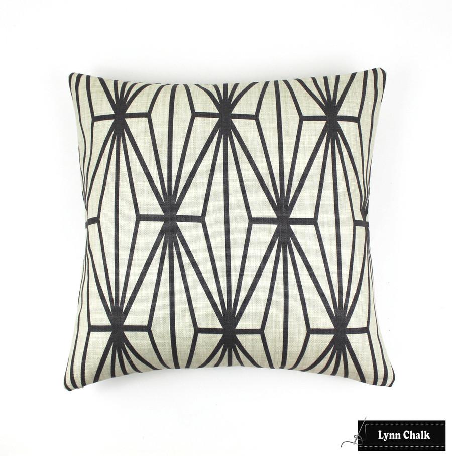 Custom Pillow in Katana Ivory/Ebony (22 X 22)