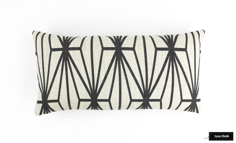 Custom Pillow in Katana Ivory/Ebony (12 X 24)