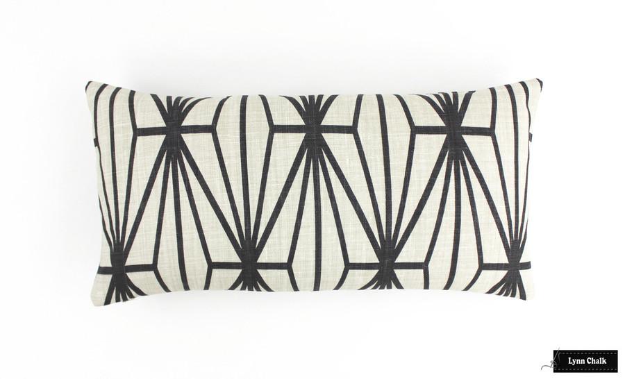 Custom Pillow in Katana Ivory/Ebony (12 X 24)