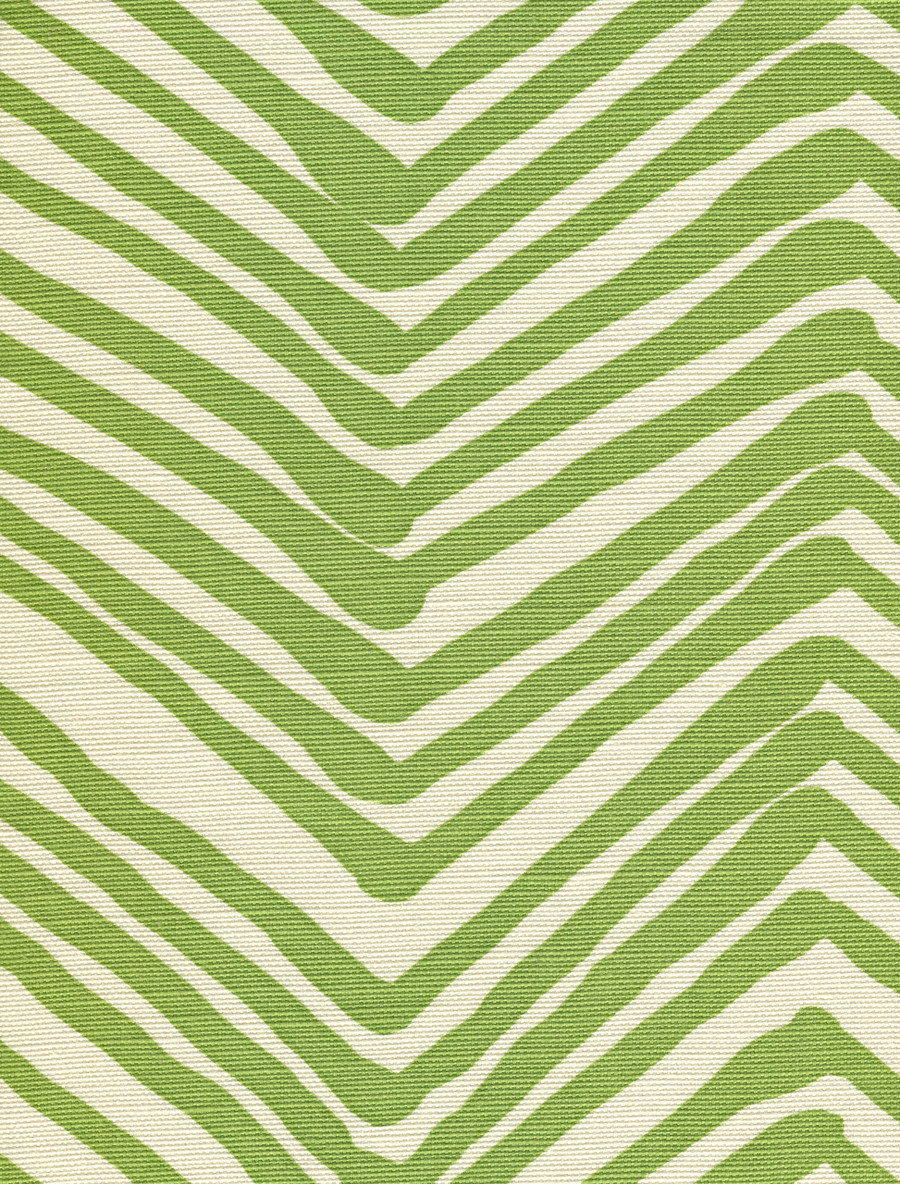 Quadrille Alan Campbell Zig Zag Jungle Green On Tint AC302-32