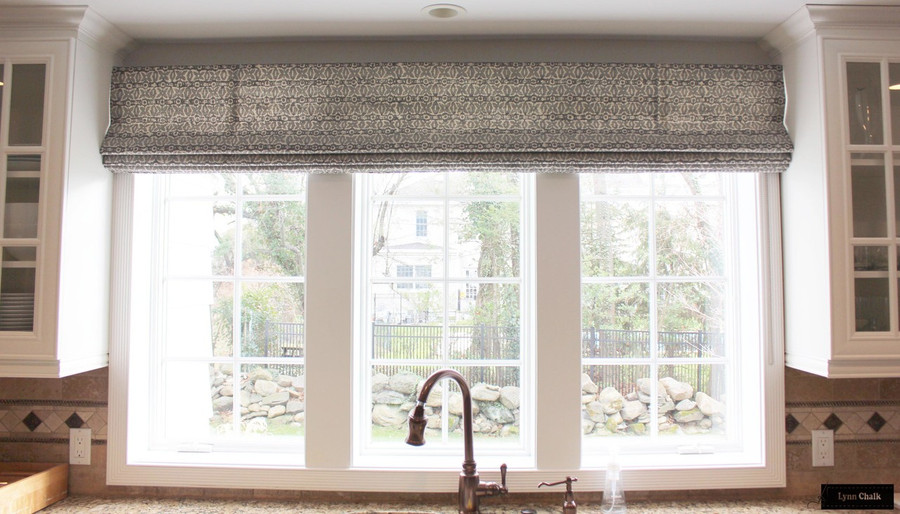 Kitchen Roman Shade in Monarch in Cadet