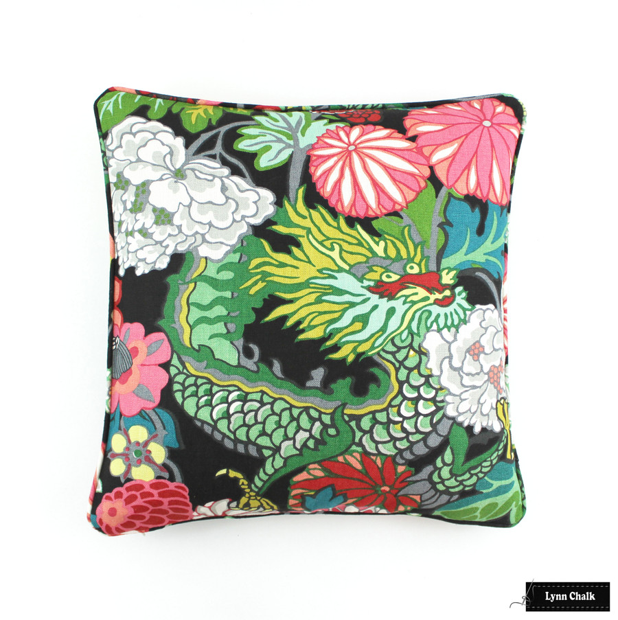 Schumacher Chiang Mai Dragon Roman Shade (shown in Aquamarine-comes in many colors)