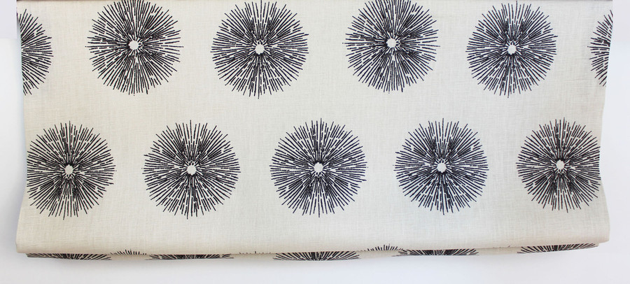 Custom Roman Shade by in Kelly Wearstler Sea Urchin in Ebony/Ivory