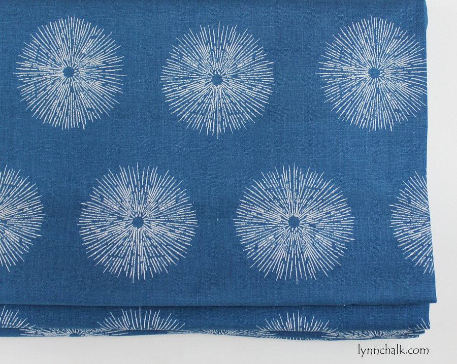 Custom Roman Shade by in Kelly Wearstler Sea Urchin in Teal/Dove