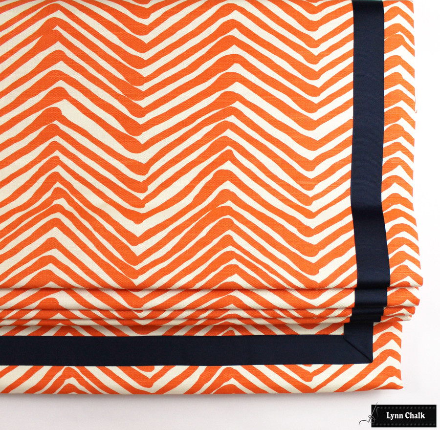Quadrille Alan Campbell Zig Zag Roman Shade (shown in Brown-Comes in 14 Colors)