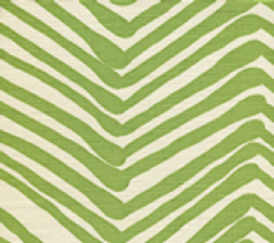 Quadrille Zig Zag in Jungle Green