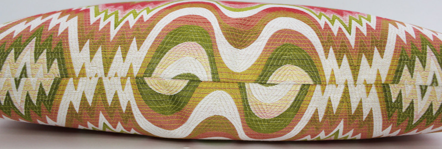 ON SALE - Acid Palm Custom Pillow- Watermelon by Jonathan Adler for Kravet (14 X 24) There is Only 1 Pillow Remaining At This Sale Price