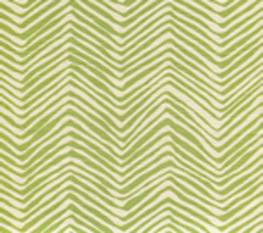Quadrille Alan Campbell Petite Zig Zag Jungle Green On Tint