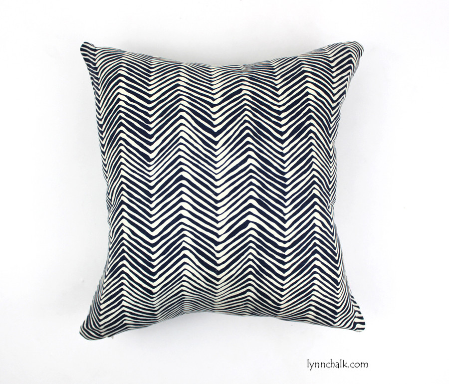 Pillow in Petite Zig Zag in Navy (16 X 16)
