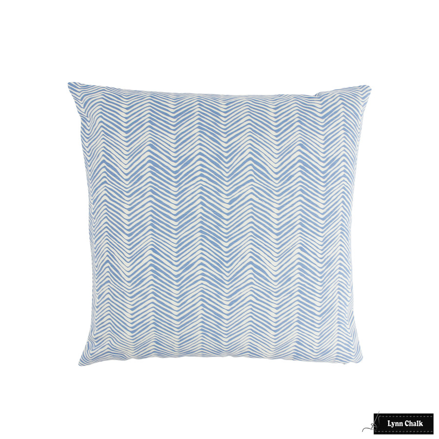 Pillow in Petite Zig Zag French Blue on Tint