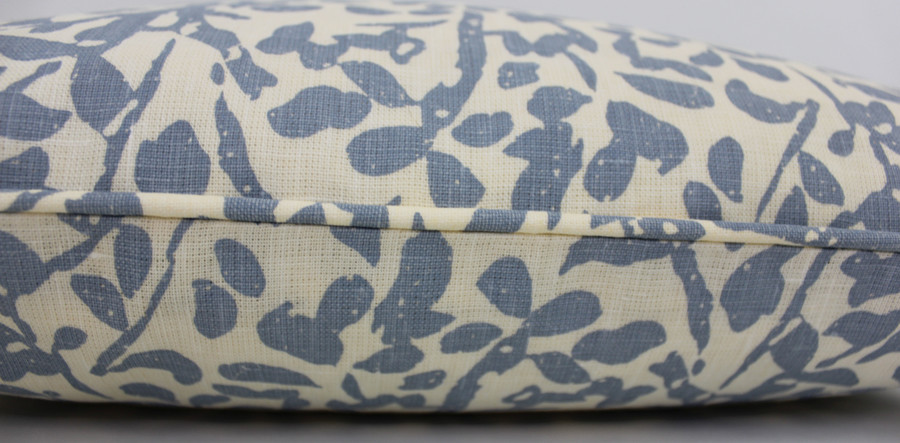 Quadrille China Seas Arbre De Matisse Reverse Pillows with Self Welting (shown in Ecru on Natural)