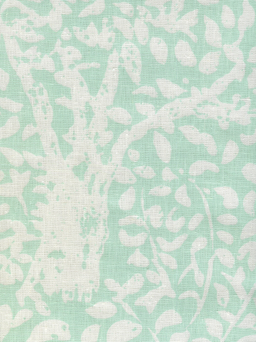 Quadrille Arbre De Matisse Soft Aqua on White