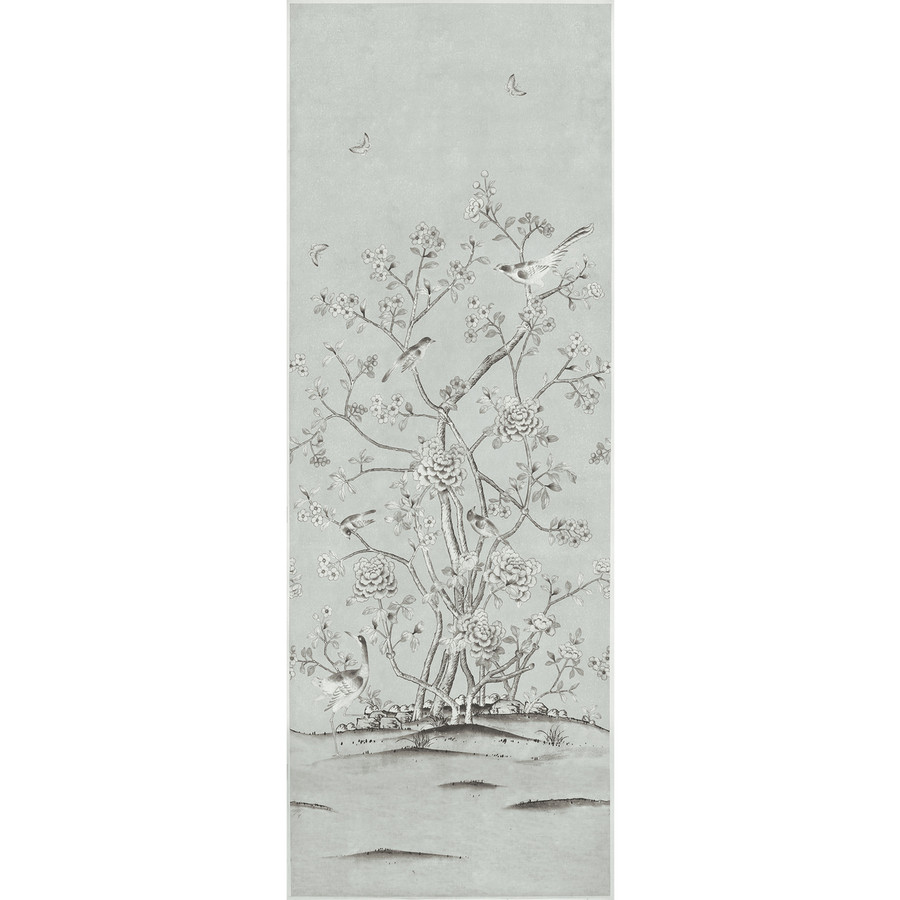 Schumacher Mary McDonald Chinois Palais Grisaille Fabric (Priced and Sold by the 3.75 Yard Full Panel)