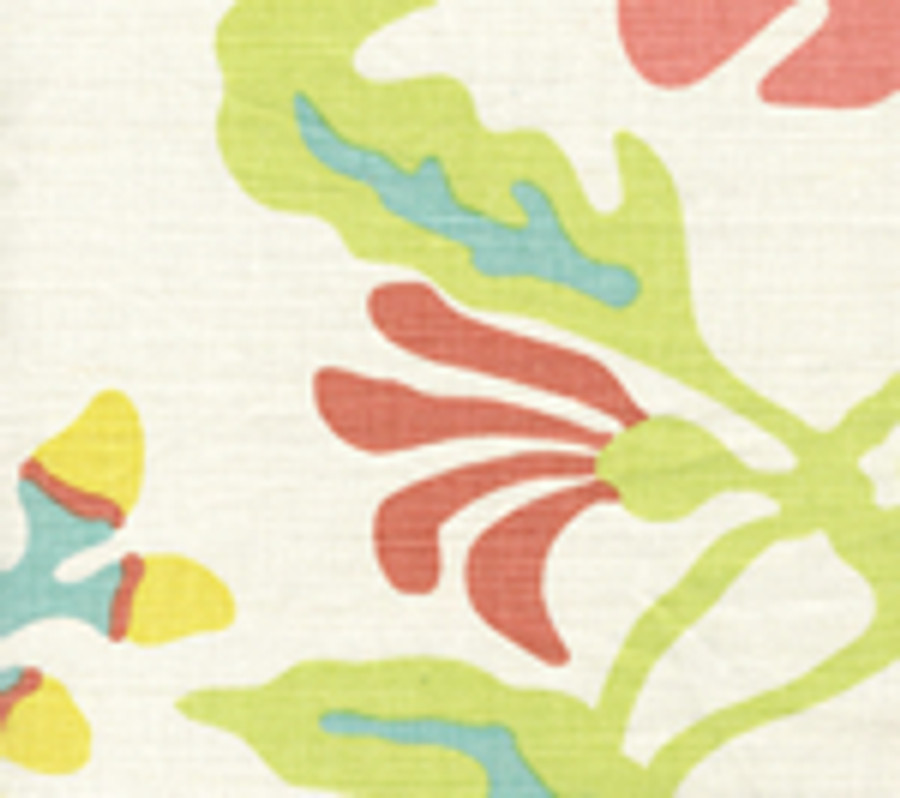 Quadrille Potalla Aqua Lime Yellow Peach AC804 21
