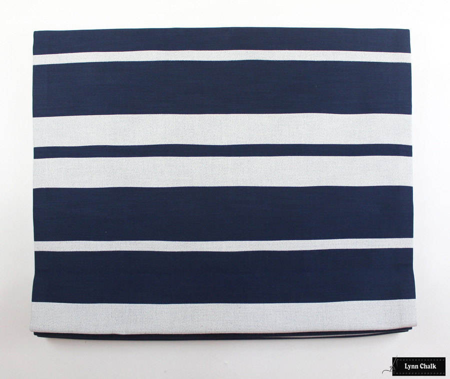 Little Big Stripe in Blue Boy Roman Shade
