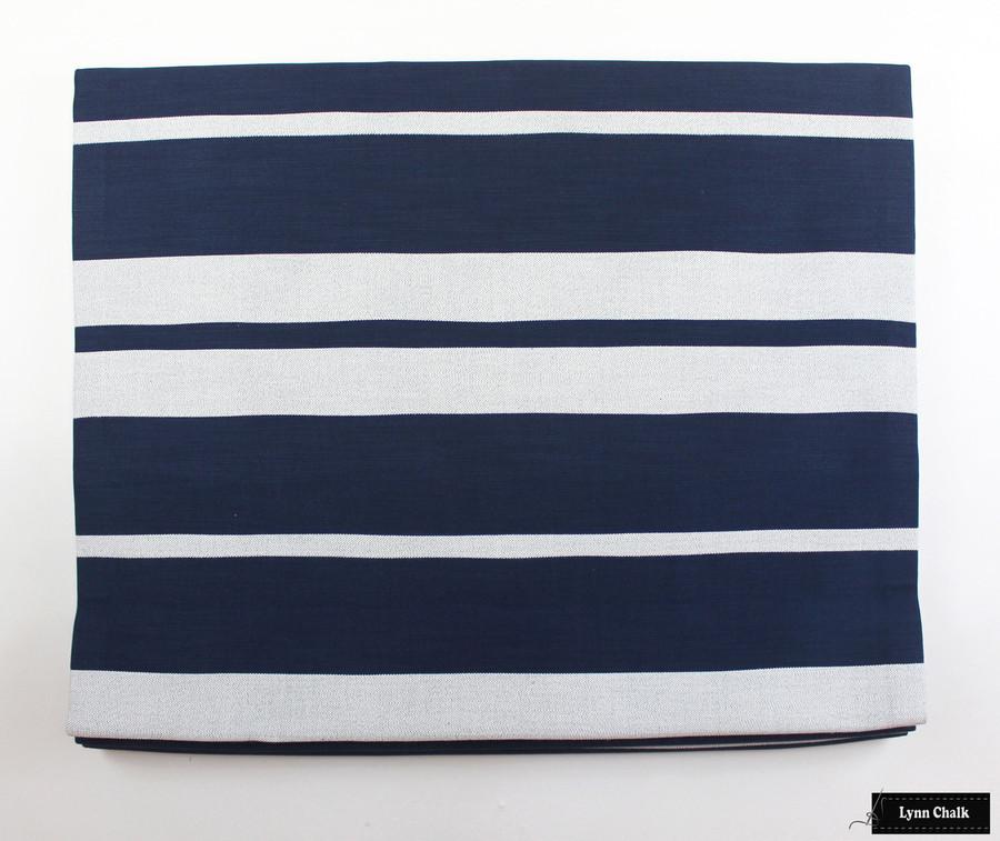 Little Big Stripe in Blue Boy Roman Shade