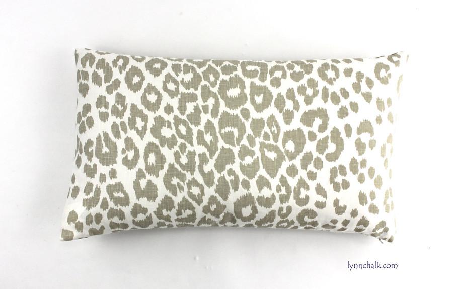 Custom 14 X 24 Knife Edge Pillow in Iconic Leopard in Linen