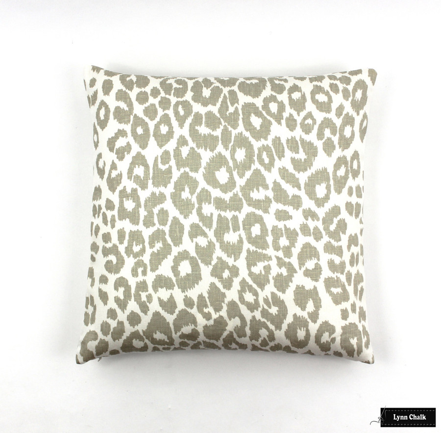 Schumacher Iconic Leopard Pillows in Ink  (comes in other colors)