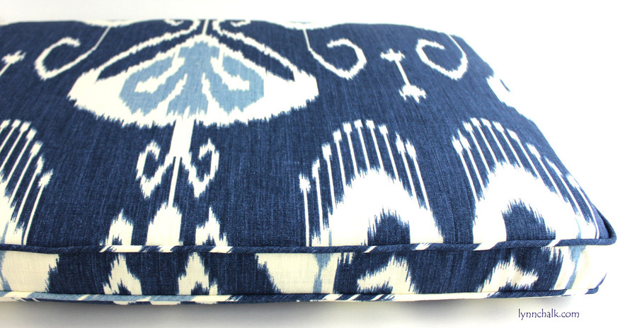 Custom Cushion in Bansuri Iris