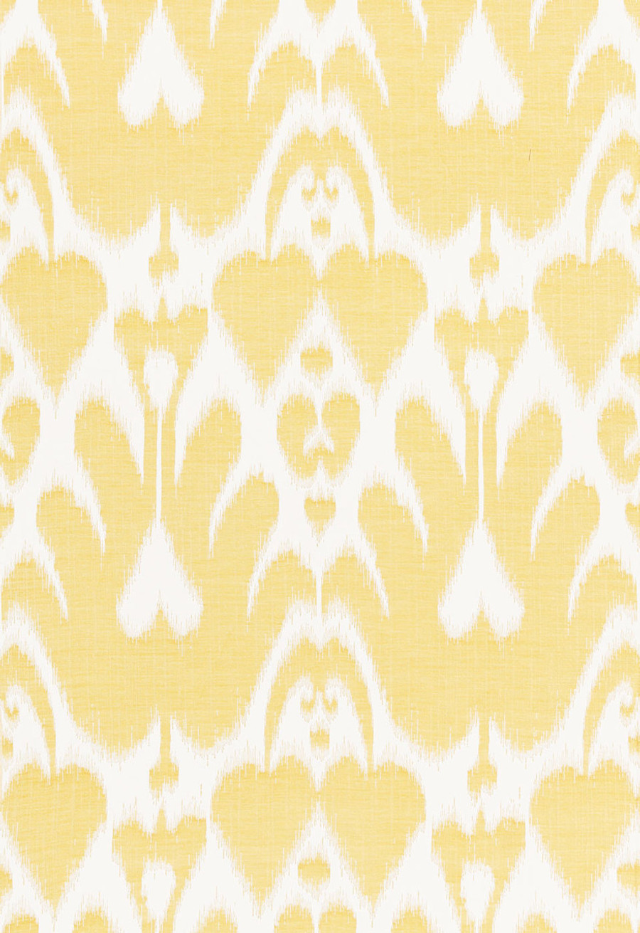 Lela Cotton Ikat Canary