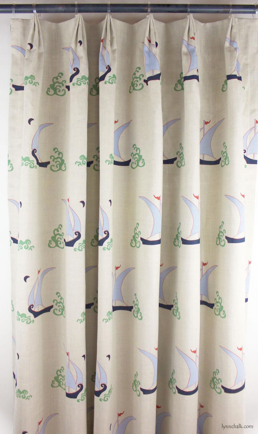 Custom Drapes in Katie Ridder Beetlecat in Lavender on Linen