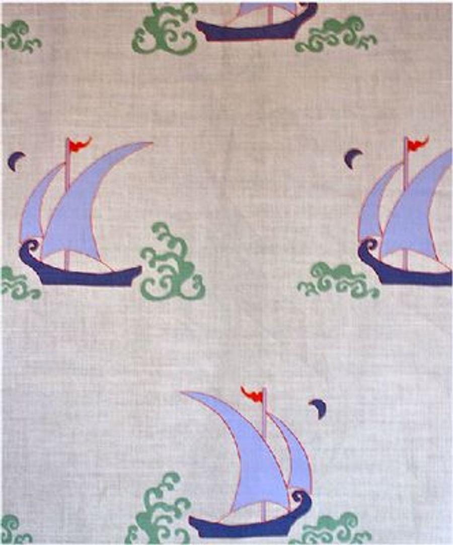 Katie Ridder Beetlecat Fabric in Lavender on Linen