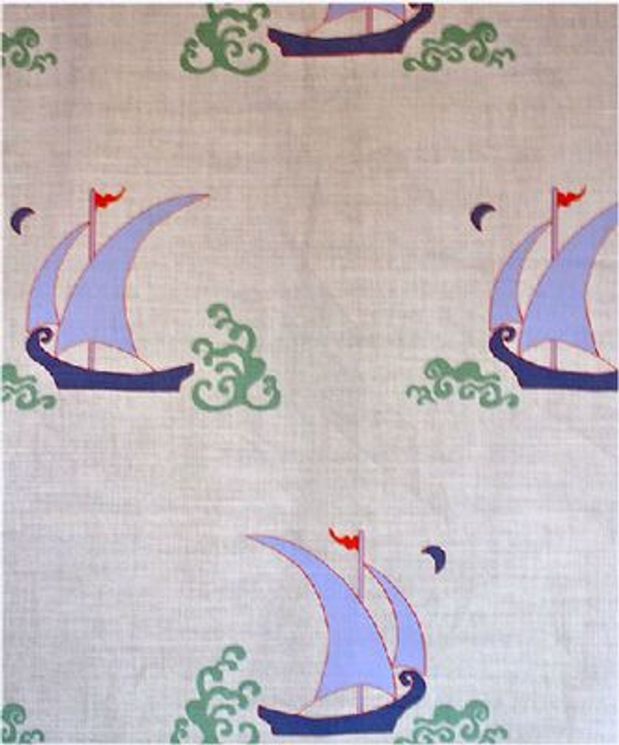 Katie Ridder Beetlecat Fabric in Lavender on Linen
