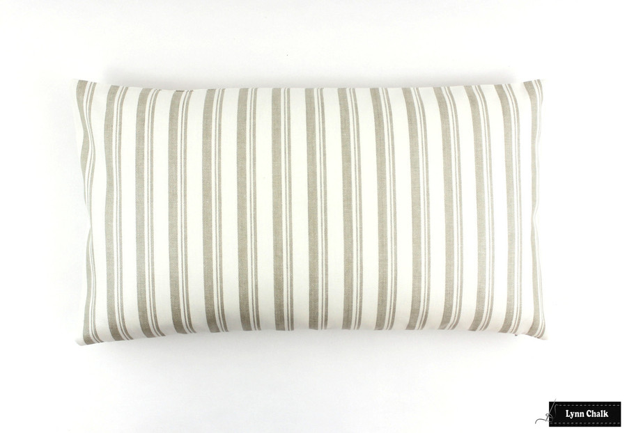 Miles Redd Capri Stripe Beige Pillows