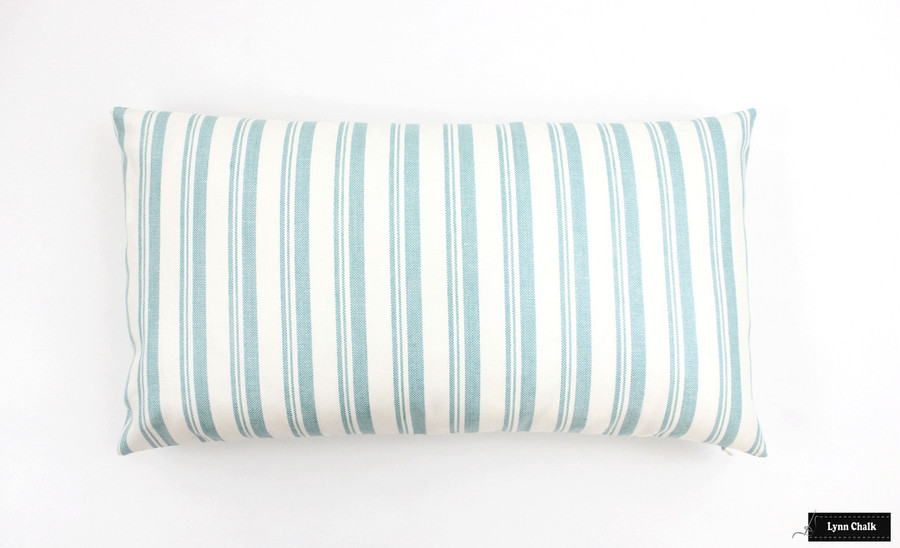 Miles Redd Capri Stripe Aqua Pillows (12 X 22)