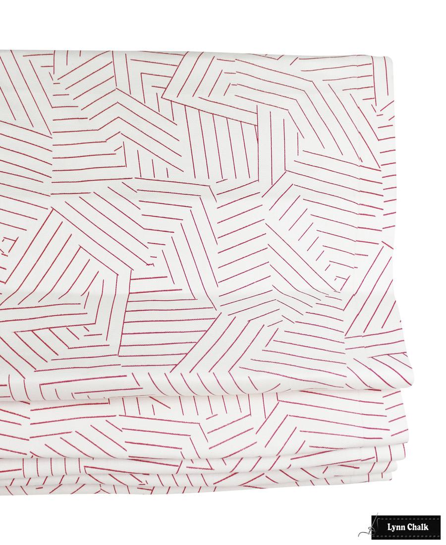 Miles Redd for Schumacher Deconstructed Stripe Fabric in Greige 176053