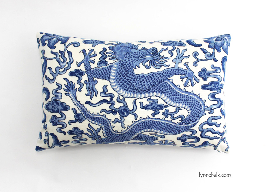 Scalamandre Chi'en Dragon Hyacinth Blue 16558-007