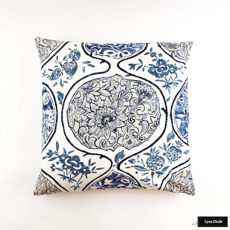 Schumacher Katsugi Blues Pillow (24 X 24)