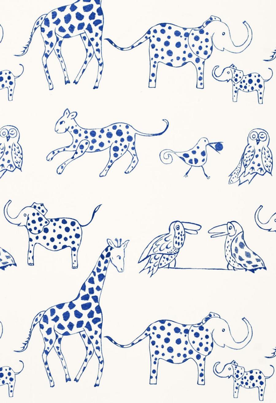 66250 Lulu DK Fabric Jungle Jubilee Blueberry