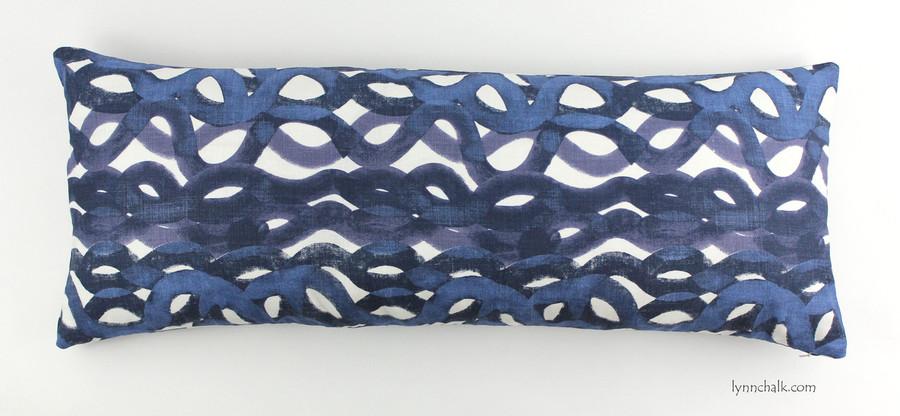 12 X 36 Pillow in Christopher Farr Fathom in Indigo (12 X 36)