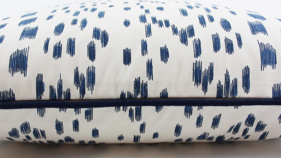 Les Touches in Blue with contrasting Navy Welting