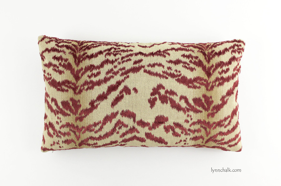 ON SALE 45% Off - Cowtan & Tout Rajah Velvet Pillow in Red 11028-05 (12 X 24 - both sides) Made To Order
