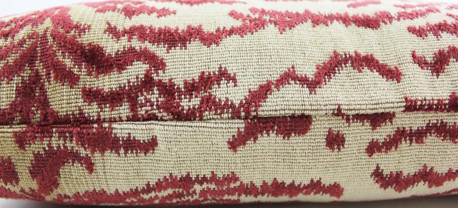 Cowtan & Tout Velvet Rajah Pillows (Both Sides in Red) 2 Pillow Minimum Order