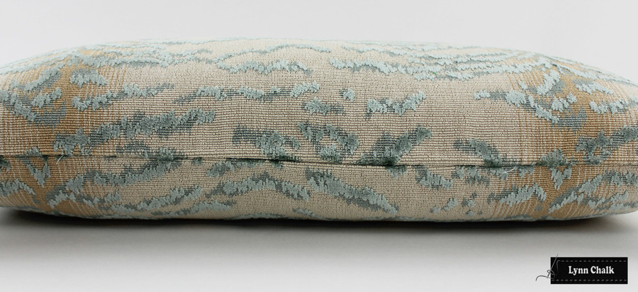 Cowtan & Tout Rajah Velvet Pillows in Blue 11028-03 (Both Sides-also comes in Red, Aqua, Onyx and Beige) 2 Pillow Minimum Order