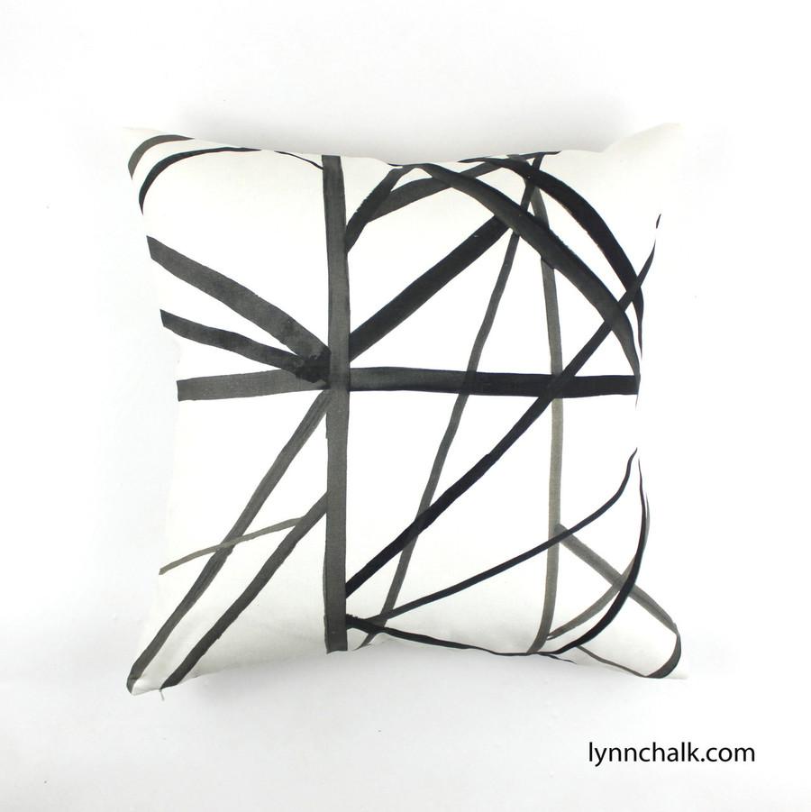 Custom Pillows in Kelly Wearstler Channels in Ebony/Ivory