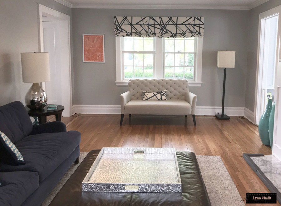 Custom Roman Shade and Pillows in Kelly Wearstler Channels in Periwinkle