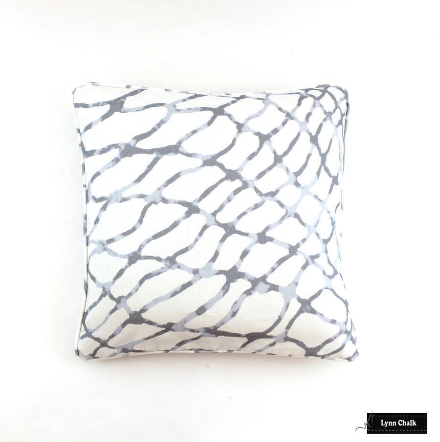 Pillow in Jeffrey Marks Waterpolo in Cloud (18 X 18)