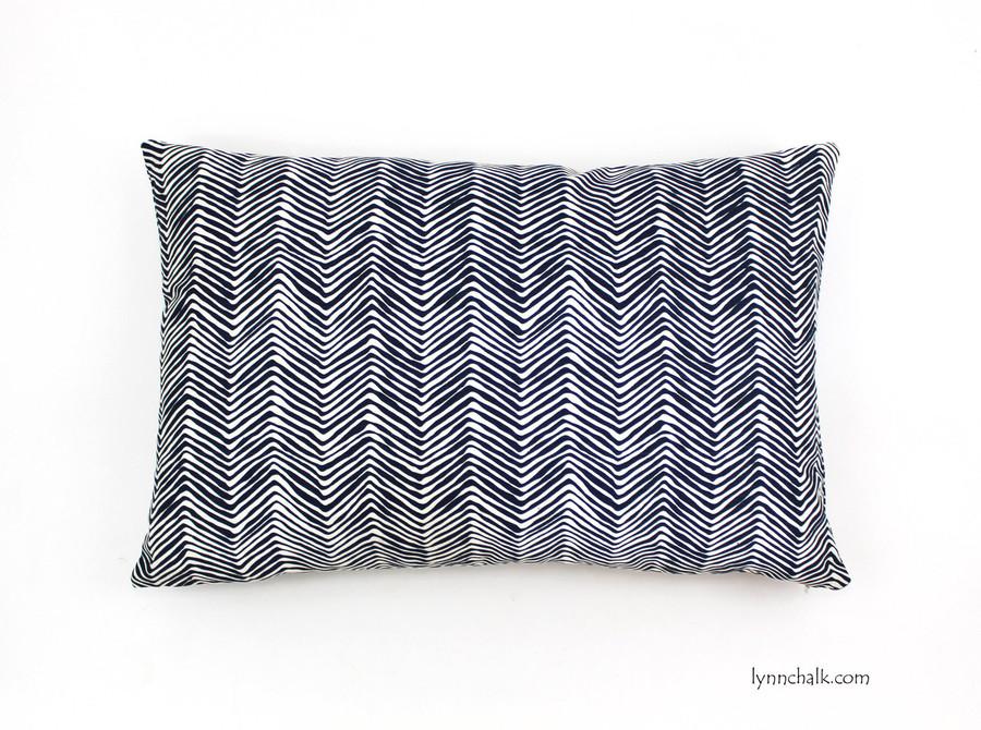 Pillow in Petite Zig Zag in Navy (16 X 24)