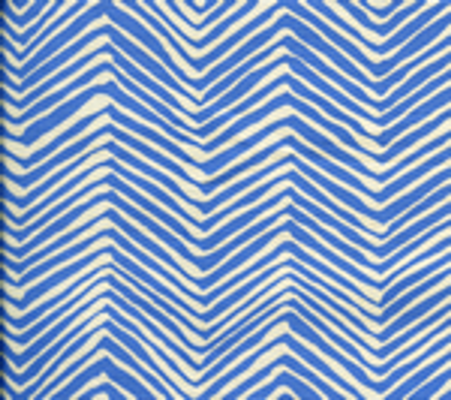 Quadrille Alan Campbell Petite Zig Zag French Blue On Tint