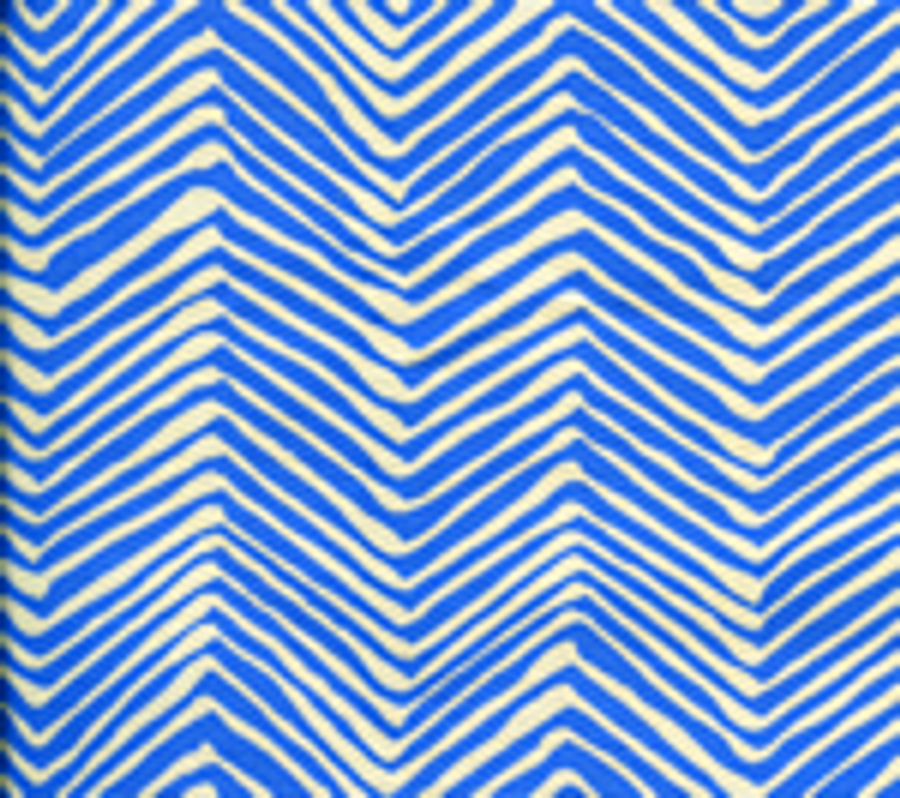 Quadrille Alan Campbell Petite Zig Zag Pacific Blue On Tint