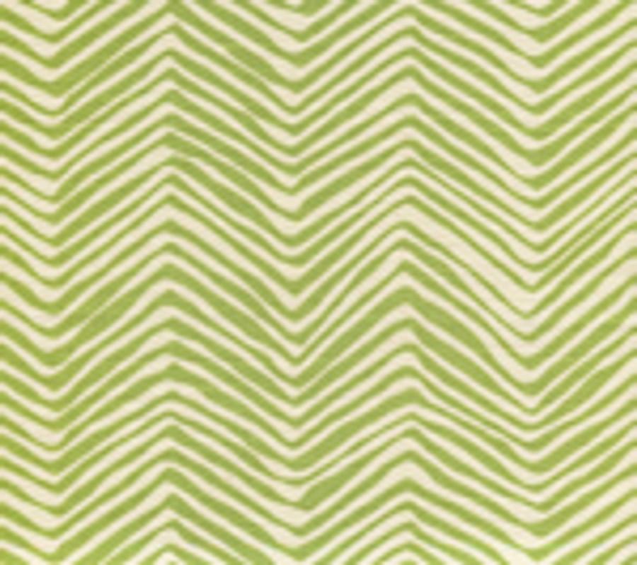 Quadrille Alan Campbell Petite Zig Zag Jungle Green On Tint