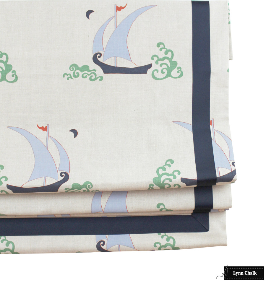 Katie Ridder Beetlecat Roman Shades (shown in Lavender-also comes in Apricot and Ultramarine)
