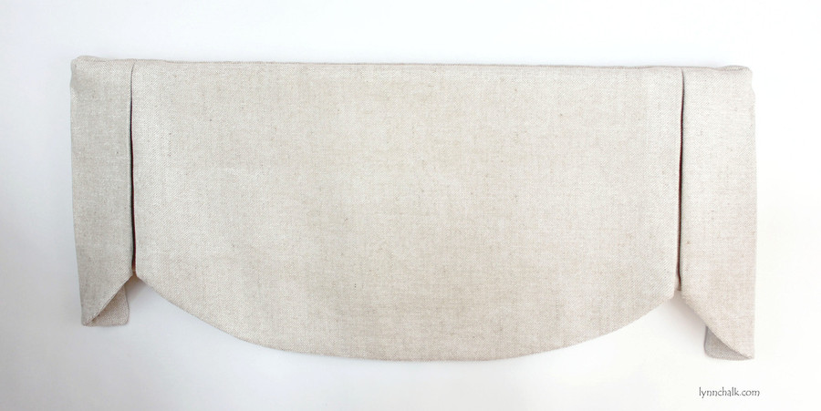 """Custom Valance in shown in Robert Allen Jute Chenille in Pearl.  This valance was 37"""" Wide and 16"""" Long."""