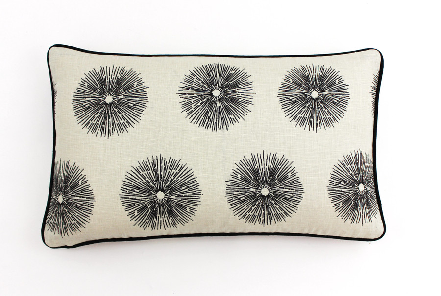 Kelly Wearstler for Lee Jofa Sea Urchin Custom Pillows in Ivory/Ebony (Both Sides) 2 Pillow Minimum Order