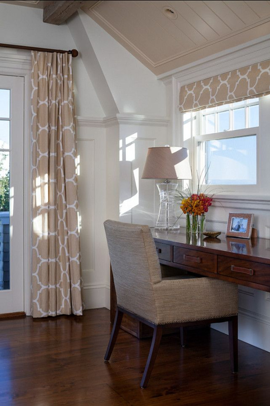 Windsor Smith Riad Pleated Drapes in Pearl Silver